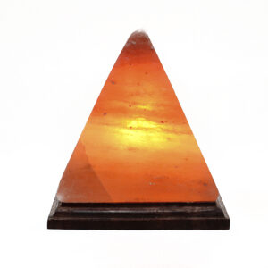 Pyramid salt lamp - himalayanwellbeing.co.uk