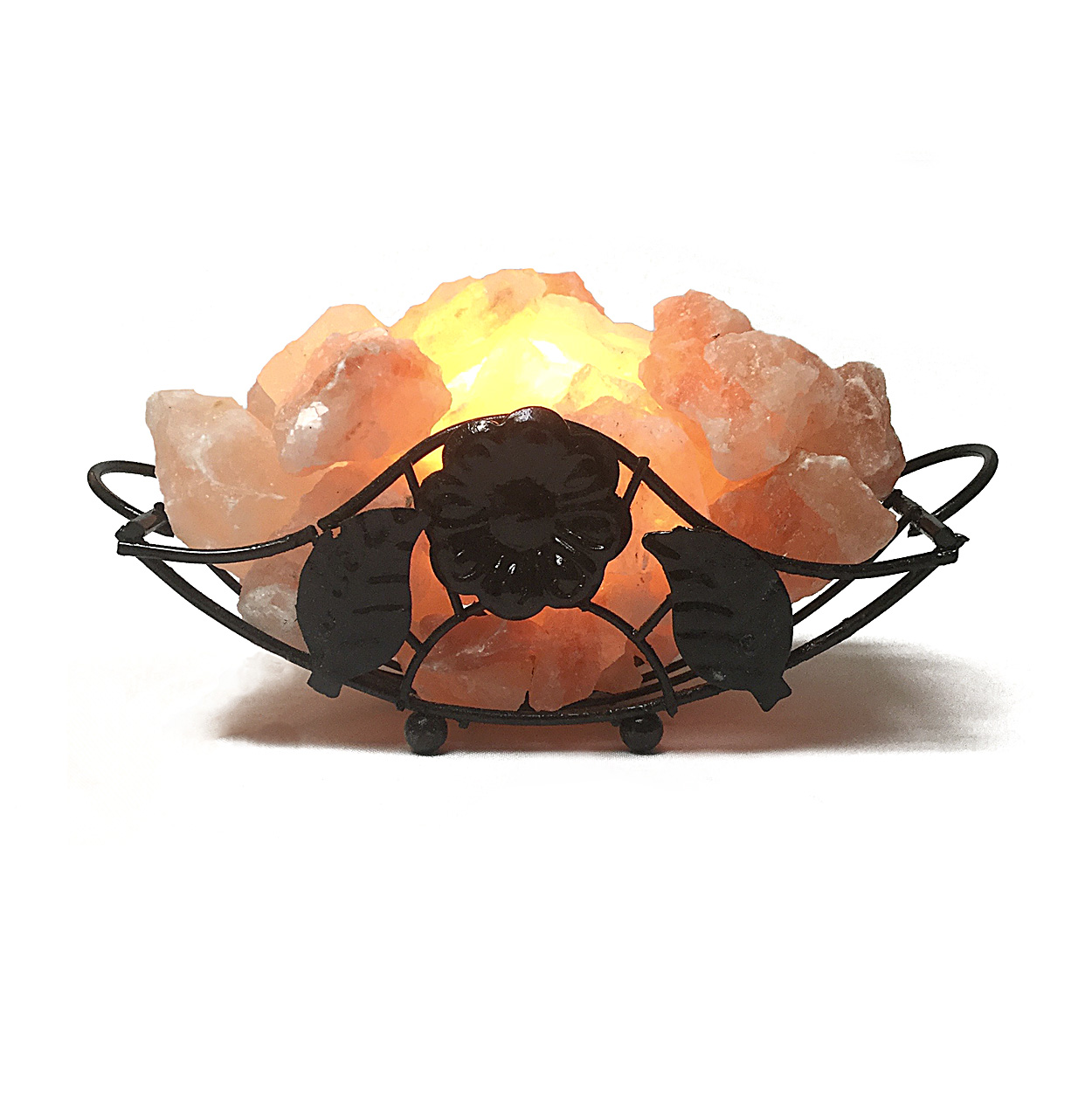 Himalayan Wellbeing 100 Natural Himalayan Fire Basket Salt Lamps